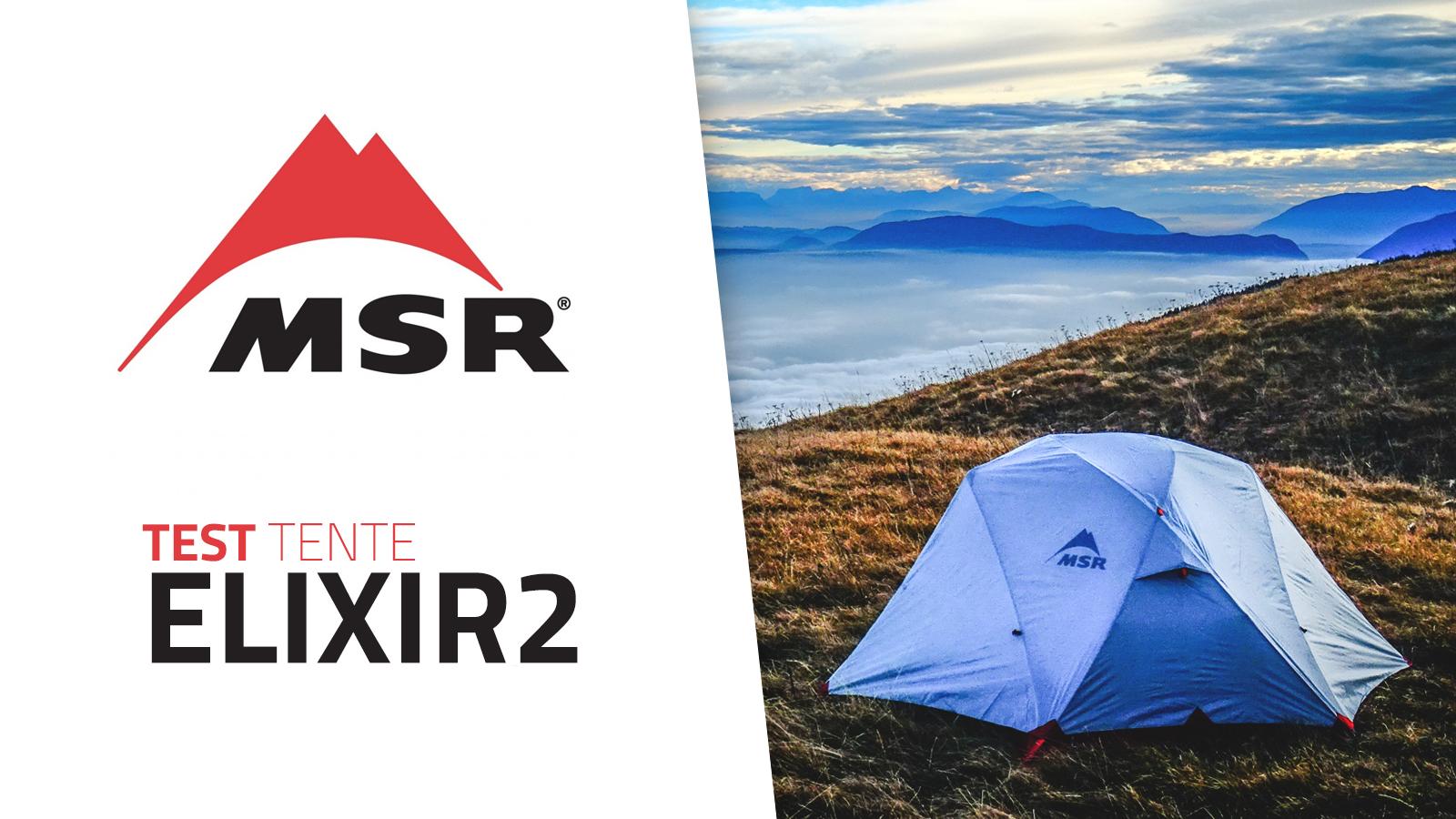 Test de la tente MSR Elixir2