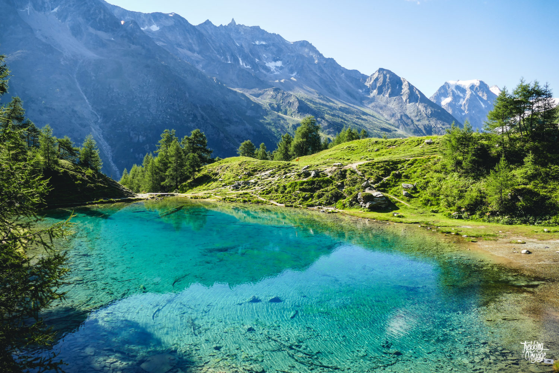 Lac Bleu Val d'Hérens alpage montagne suisse