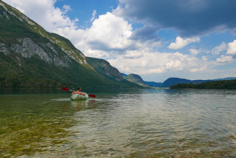 Packraft Lac Bohinj Slovénie