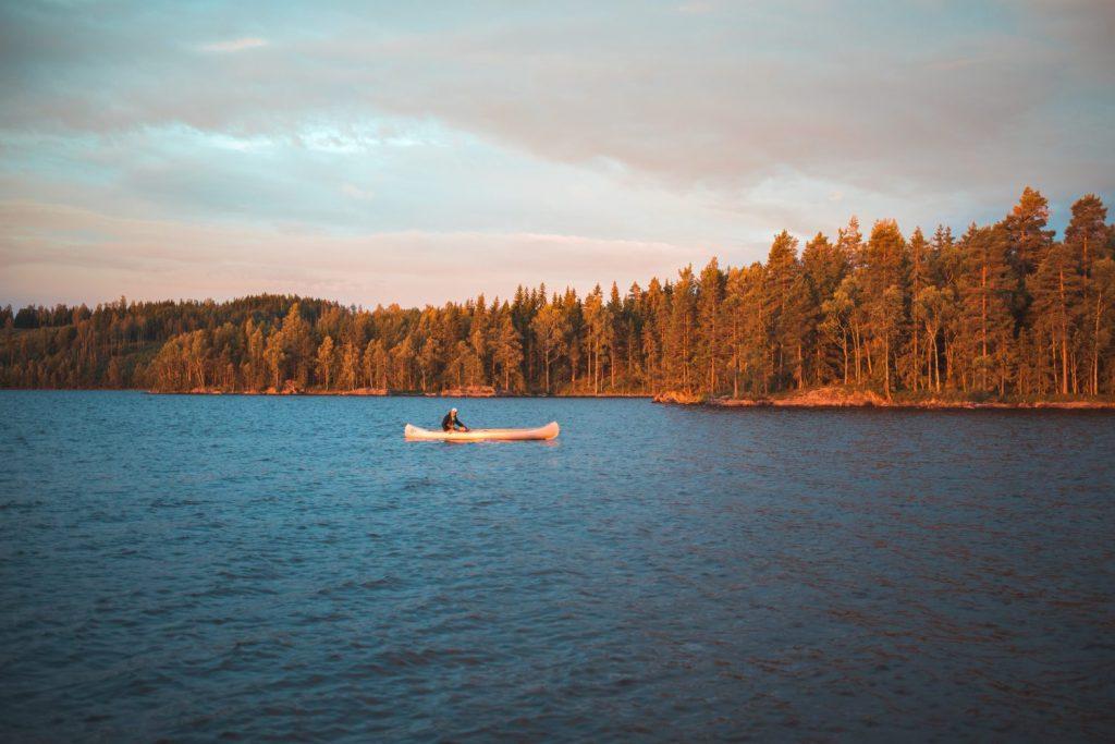 Paysage sauvage en Suède avec le Canoë trip