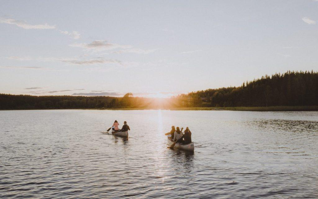 Canoë trip en Suède