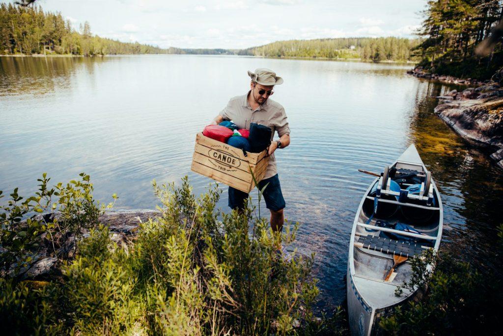 Le canoë trip en Suède